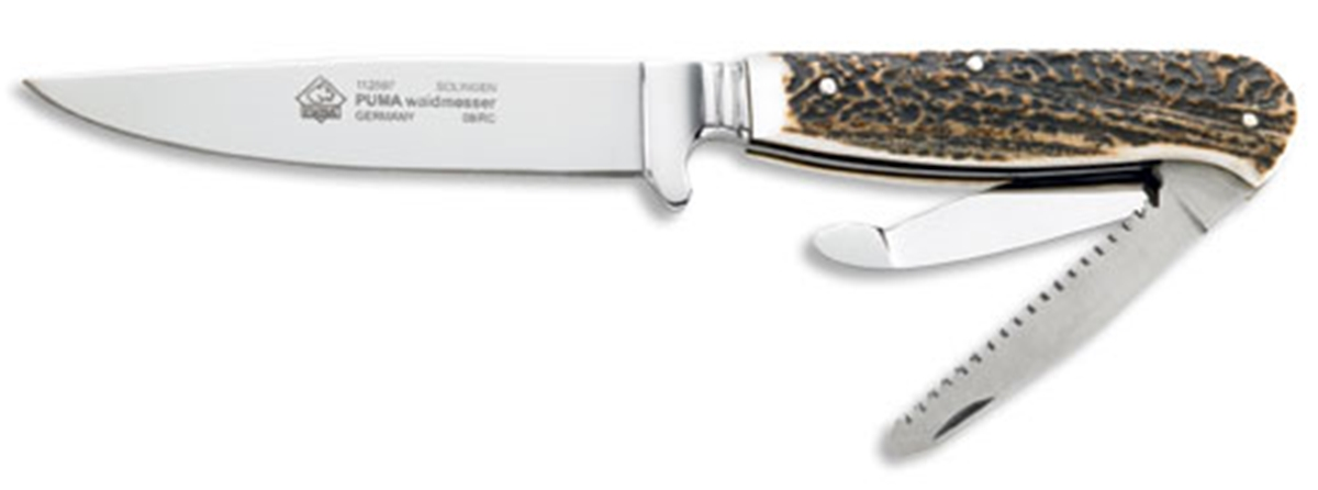 Puma Waidmesser Stag Hunting Knife with Leather Sheath - Special Order Please Allow 6 - 8 Weeks for Delivery