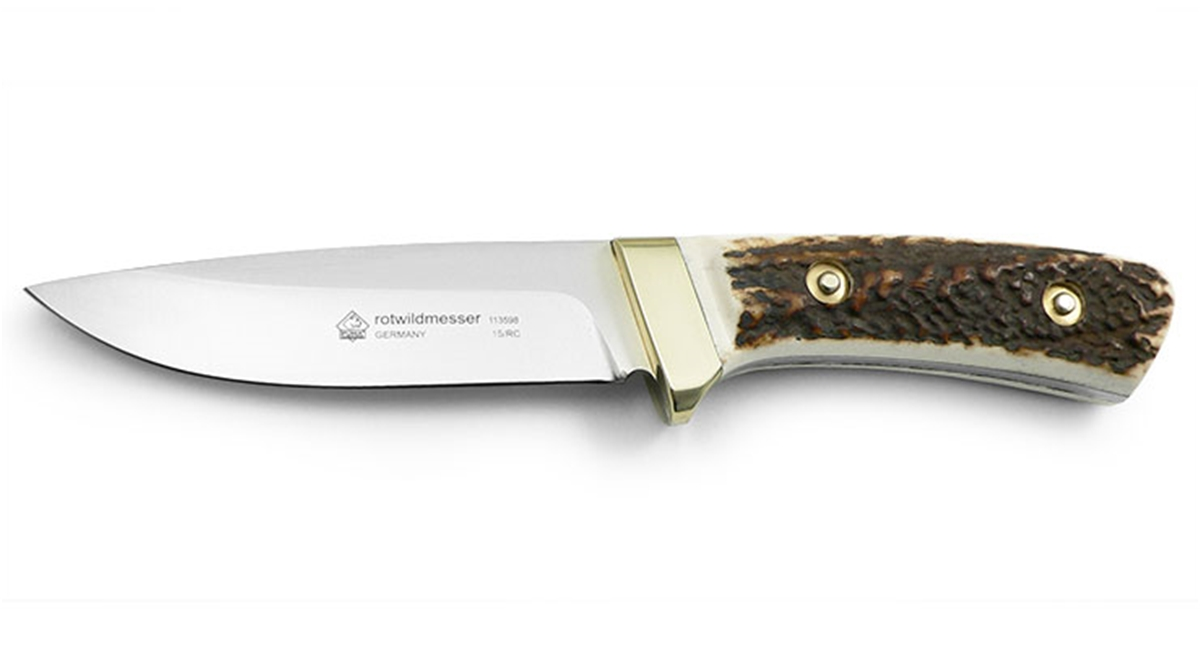 Puma Rotwildmesser Stag German Hunting Knife with Leather Sheath