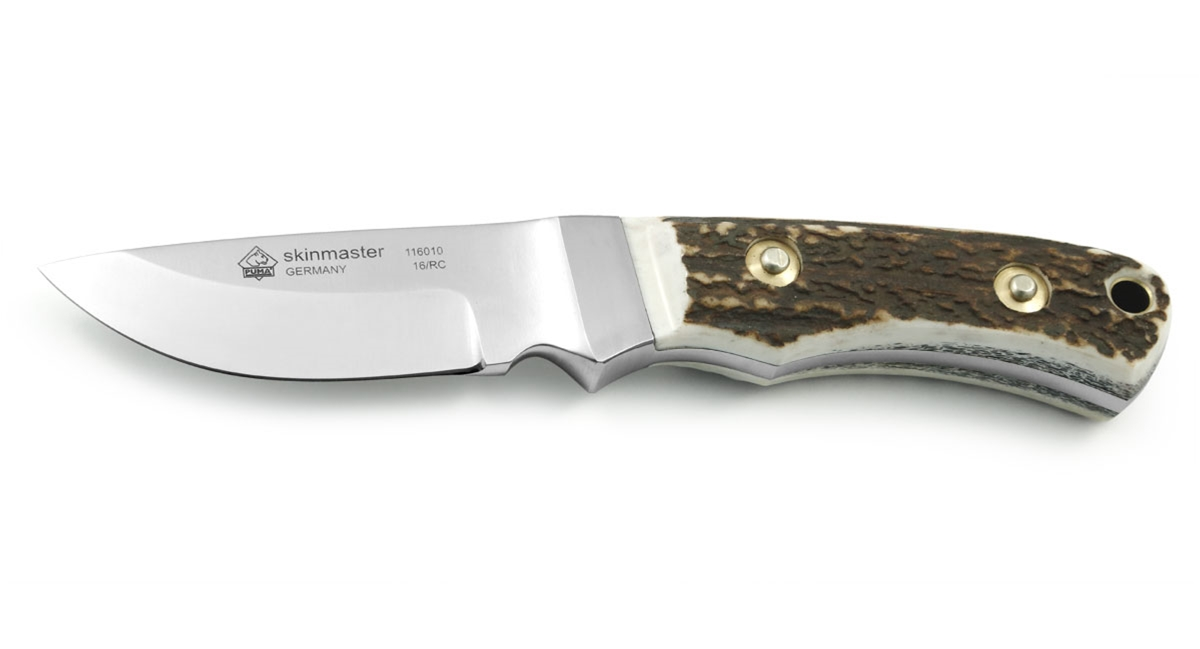 Puma Skinmaster Integral Stag German Made Hunting Knife with Leather Sheath