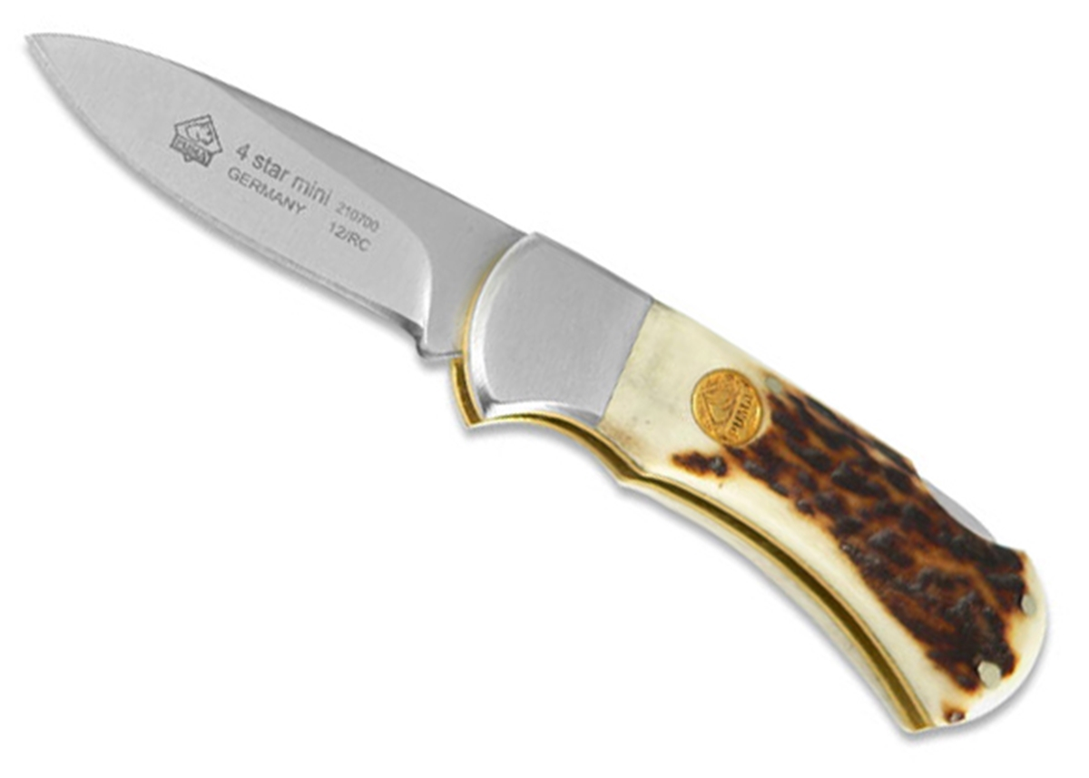 Puma 4-Star Mini Staghorn German Made Folding Pocket Knife