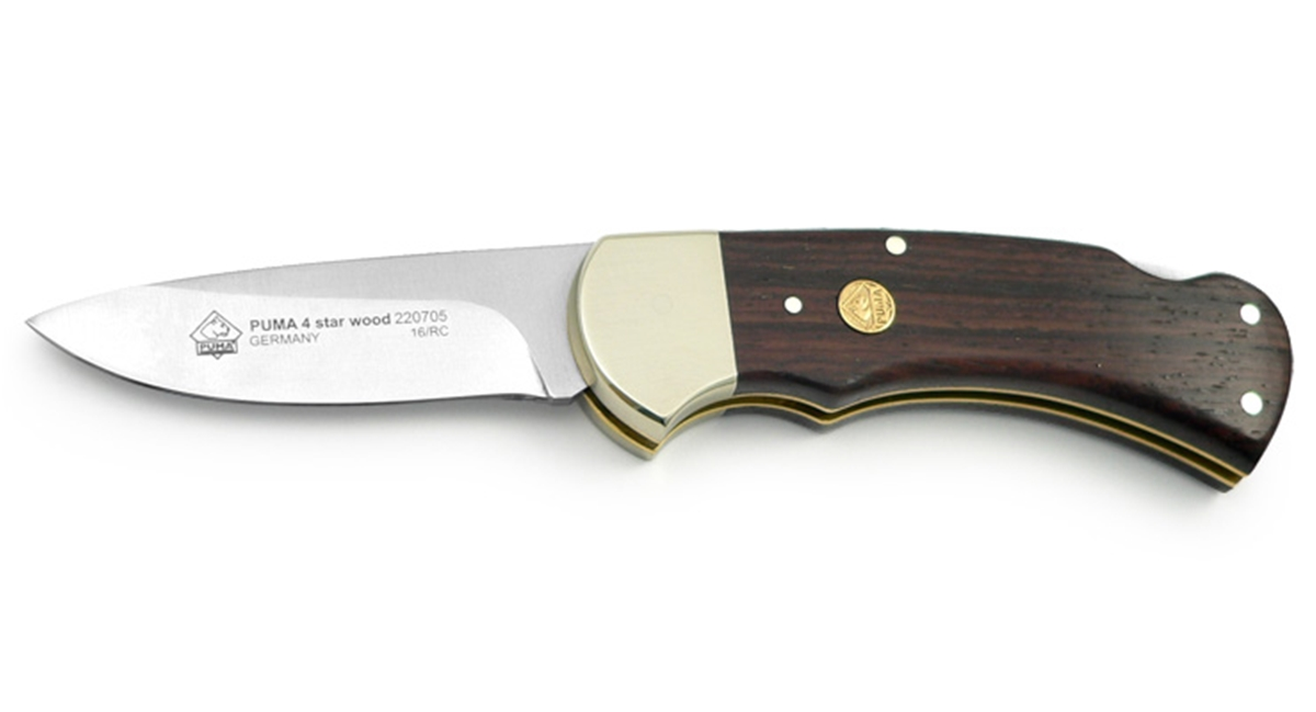 Puma 4-Star Wood German Made Folding Knife
