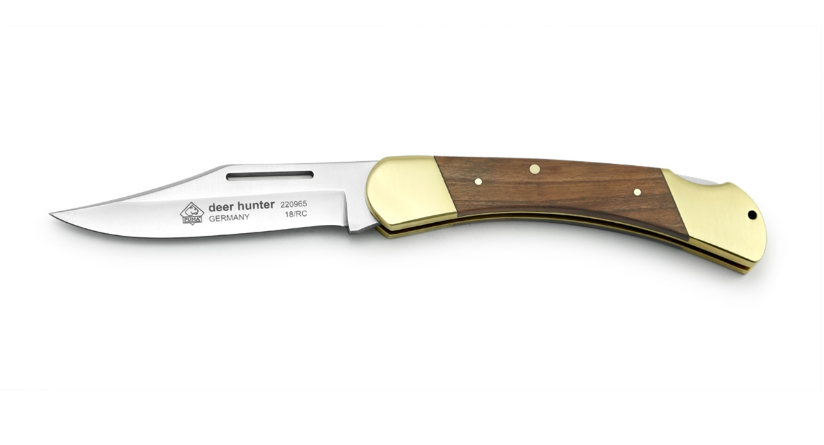 Puma Deer Hunter Plumwood German Made Folding Pocket Knife