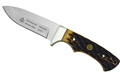 Puma SGB Blacktail Brown Jigged Bone Hunting Knife with Leather Sheath
