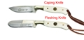 Puma SGB Trophy Care Set White Bone Knife Set with Leather Sheath