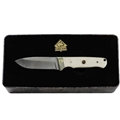 Puma SGB Mule Deer Hunter White Bone Hunting Knife with Leather Sheath Gift Tin