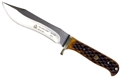 Puma SGB Buffalo Hunter Brown Jigged Bone Hunting Knife with Leather Sheath