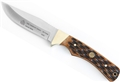 Puma SGB Deadwood Canyon Brown Jigged Bone Hunting Knife with Leather Sheath