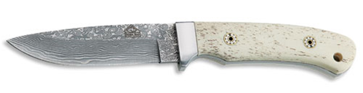 Puma TEC Damascus (71 Layers) Bone Handle with Leather Sheath - Special Order Please Allow 6 - 8 Weeks for Delivery