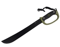 "PUMA XP Bush23 Camping Machete 15.9"" Blade with Green Rubber Handle"
