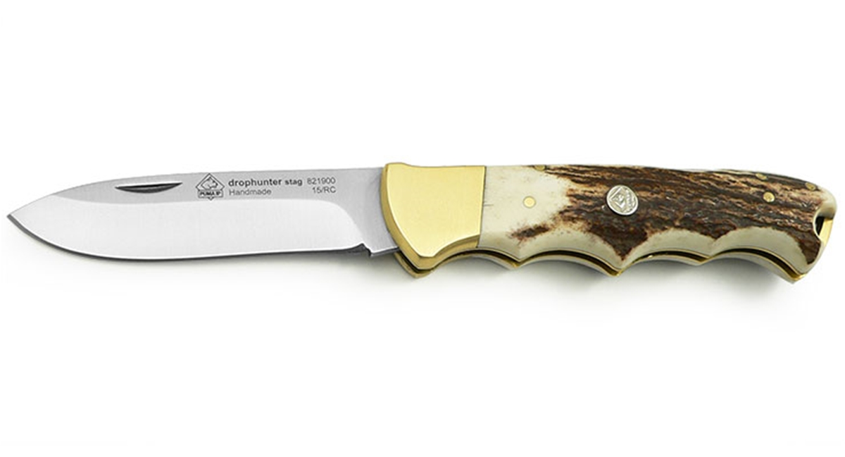 Puma IP Drophunter Stag Handle Spanish Made Folding Hunting Knife