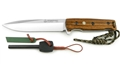 Puma IP Chispero Bocote Wood Spanish Made with Fire Starter and Leather Sheath