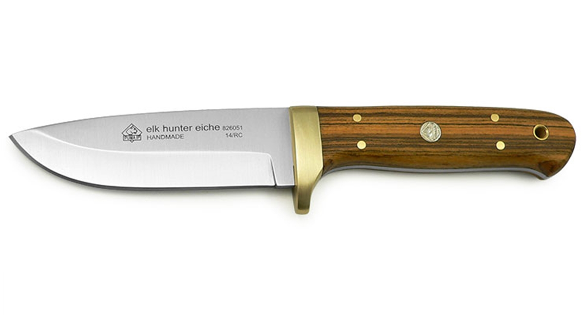 Puma IP Elk Hunter Oak Spanish Made Hunting Knife with Leather Sheath - Special Order Please Allow 6 - 8 Weeks for Delivery