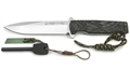 Puma IP Chispero Micarta Spanish Made Hunting Knife with Fire Starter and Leather Sheath