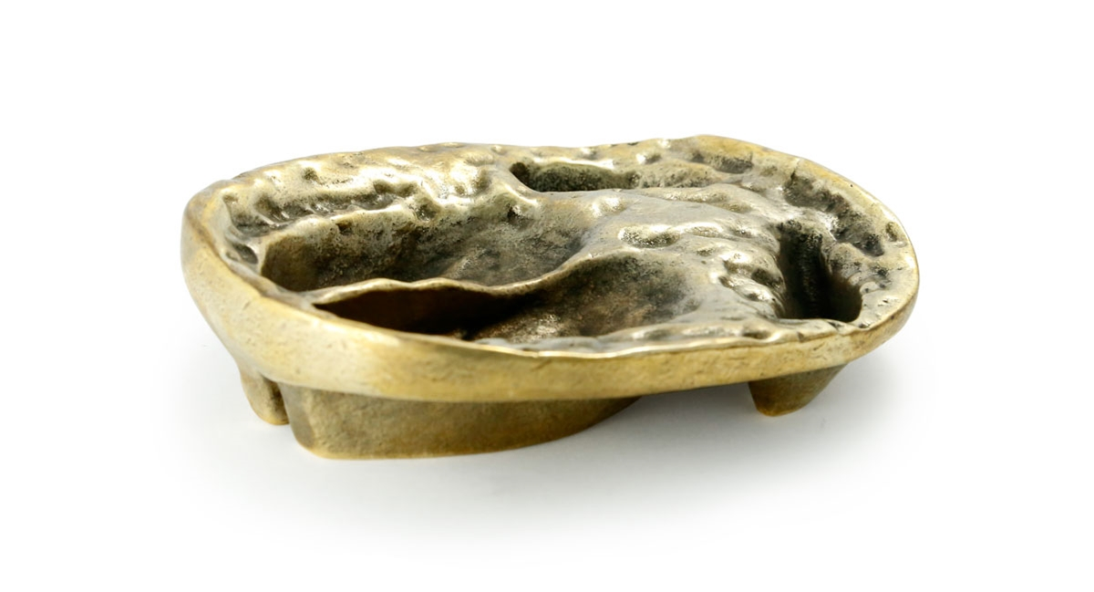 Puma Wild Boar Game Tracks Brass Ashtray