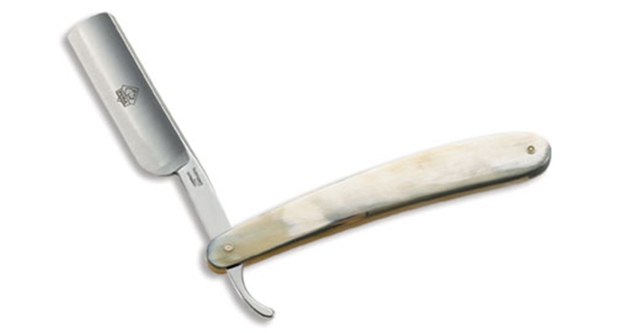 Puma German Straight Edge Shaving Razor White Bone Handle - Special Order Please Allow 6 - 8 Weeks for Delivery