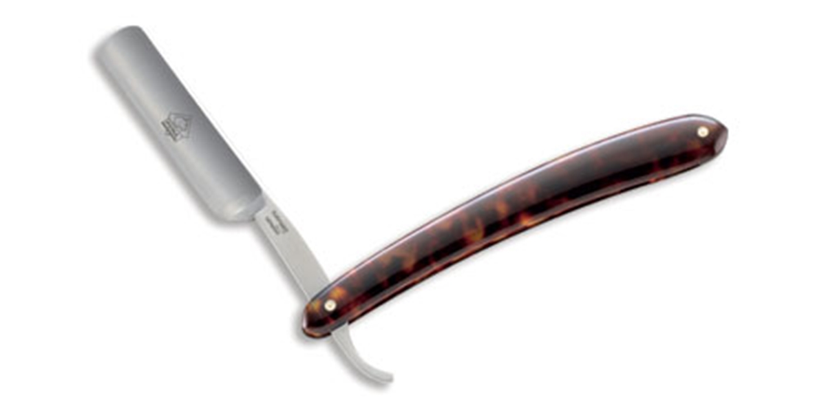 Puma German Straight Edge Shaving Razor Tortoise-Shell Celluloid Handle - Special Order Please Allow 6 - 8 Weeks for Delivery