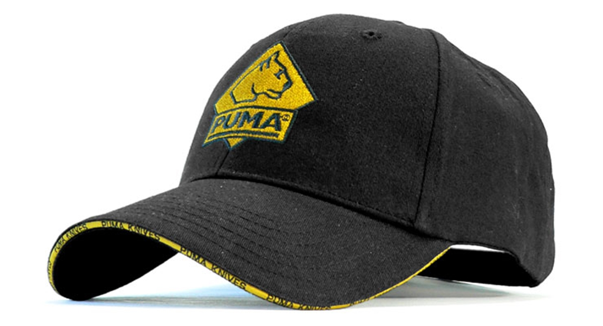 Puma Black Cap with Brass Clip Closure