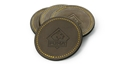 Puma Leather Coaster with Gold Stitch (Set of 4)