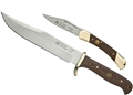 Puma SGB Bowie / Whitetail Wood Outdoorsman Combo with Leather Sheath (2 Knife Set)