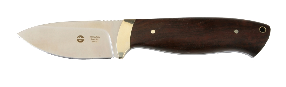 HCKT Foothills Jacaranda Wood Hunting Knife with Nylon Sheath