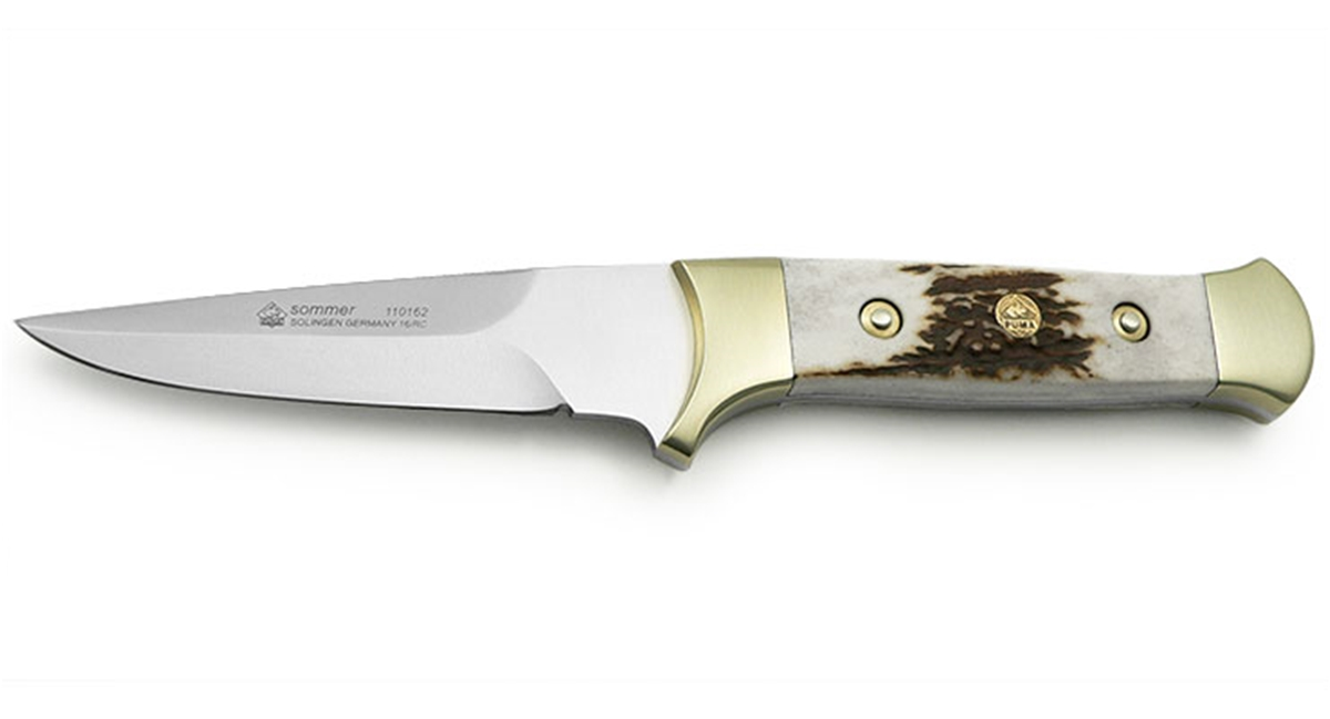 Puma Summer Stag German Made Hunting Knife with Leather Sheath