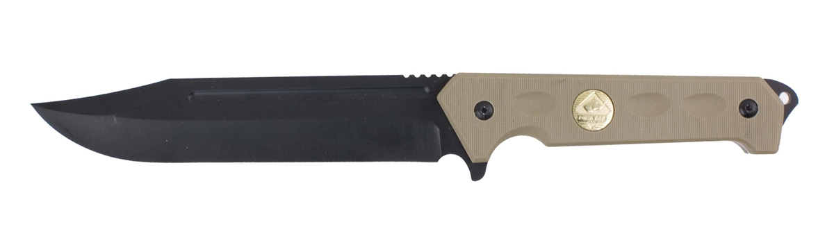 Puma SGB Bigcat 12 Clip Point Tactical Knife Tan with Kydex Sheath