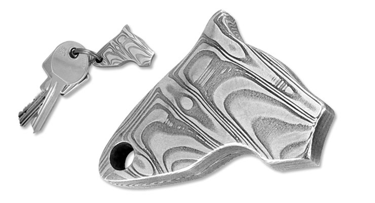 Puma Head Damascus Key Ring Pendant - Special Order Please Allow 6 - 8 Weeks for Delivery