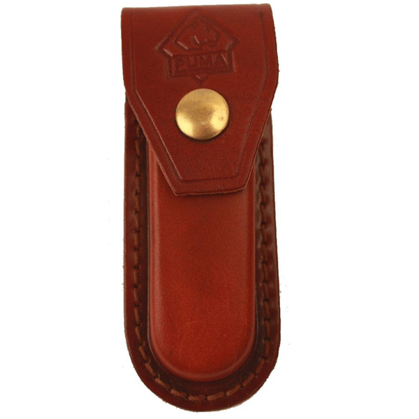 "Puma High Quality Replacement 4"" Folding Pocket Knife Leather Belt Sheath"