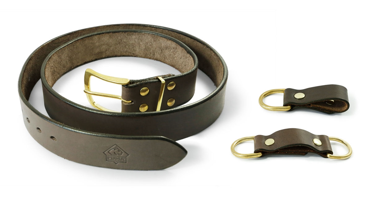 Puma Luxury Leather Hunting Belt with 2 Loops - Special Order Please Allow 6 - 8 Weeks for Delivery