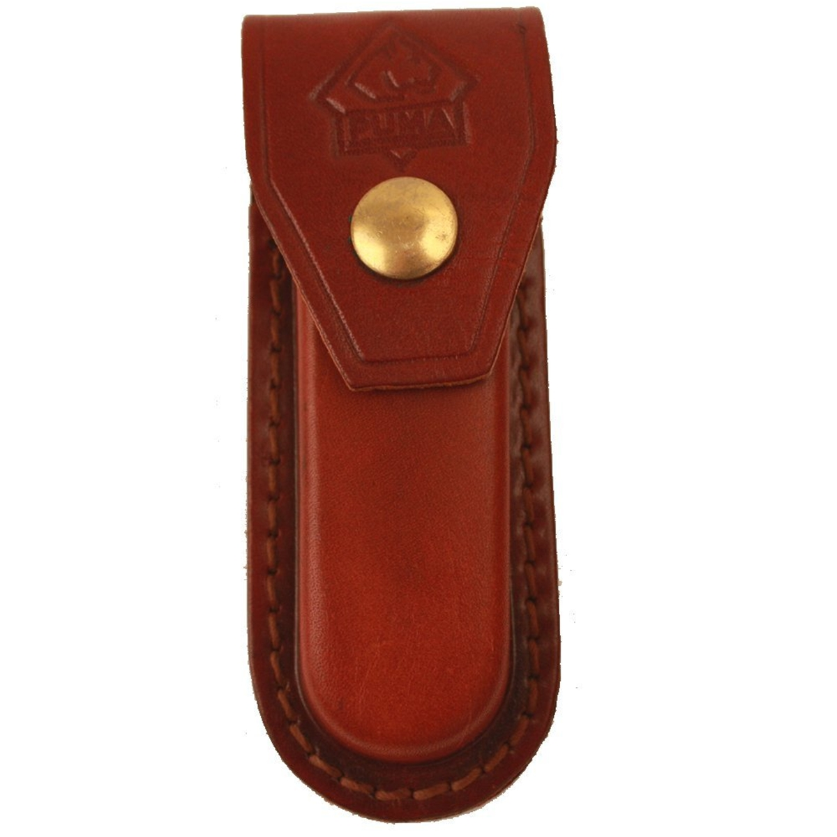 "Puma High Quality Replacement 3"" Folding Pocket Knife Leather Belt Sheath"